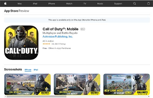 call of duty mobil gratuit