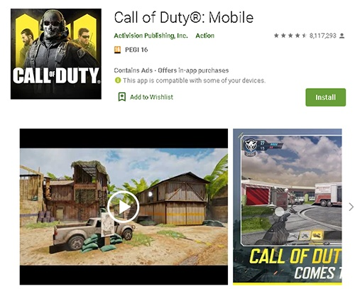 call of duty mobile download android