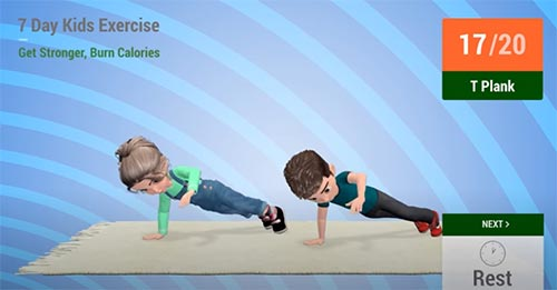7 day kids exercise
