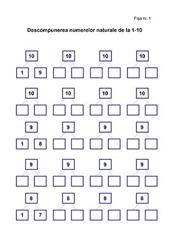 descompunere numere naturale
