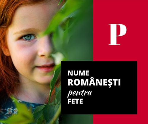 nume de fete romanesti