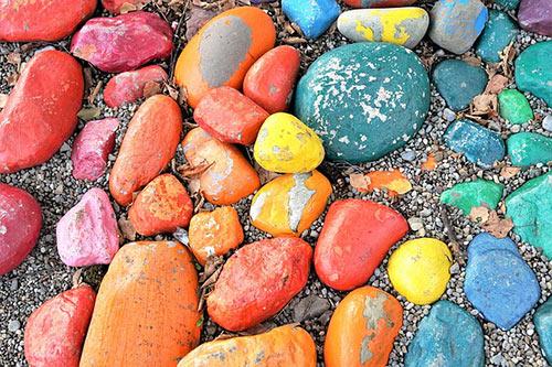 pictura pietre si scoici