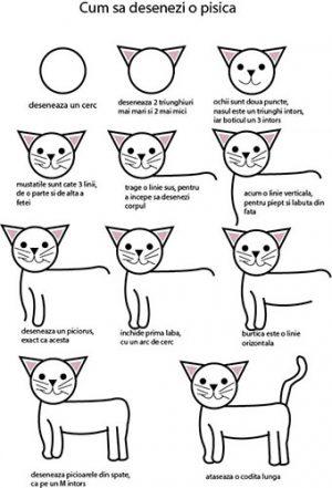 desene in creion cu pisici usoare