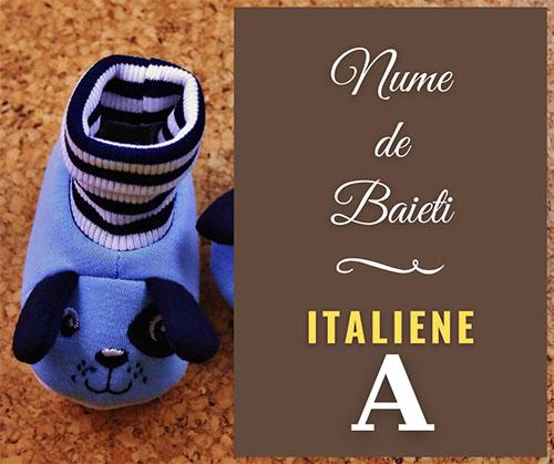 nume de baieti italienesti
