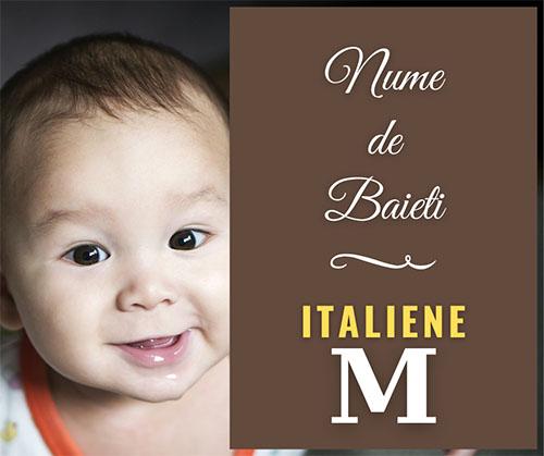 nume italiene pentru copii