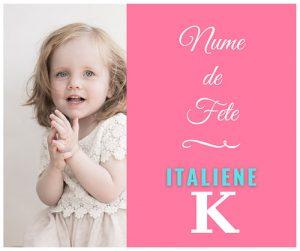 nume de fete cu k